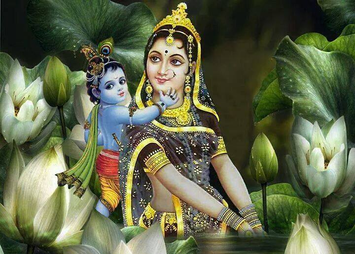 Image result for lord krishna with his mother